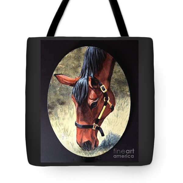 Thoroughbred Head Tote Bag