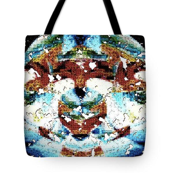 Those Darn Moths Mosaic Tote Bag