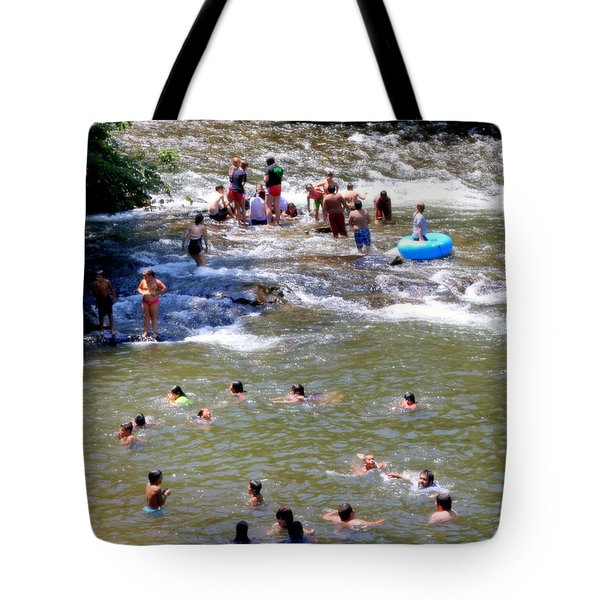 Those Were The Days Tote Bag by Karen Wiles