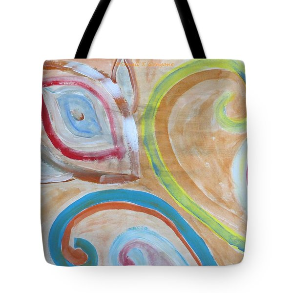 Tote Bag featuring the painting Thought by Sonali Gangane