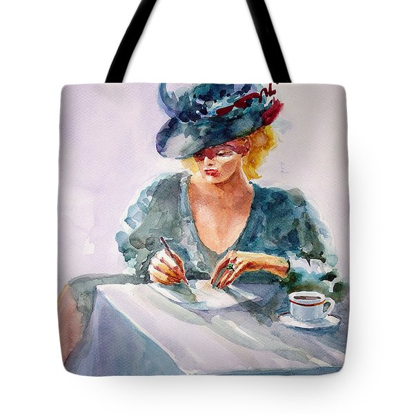 Tote Bag featuring the painting Thoughtful... by Faruk Koksal