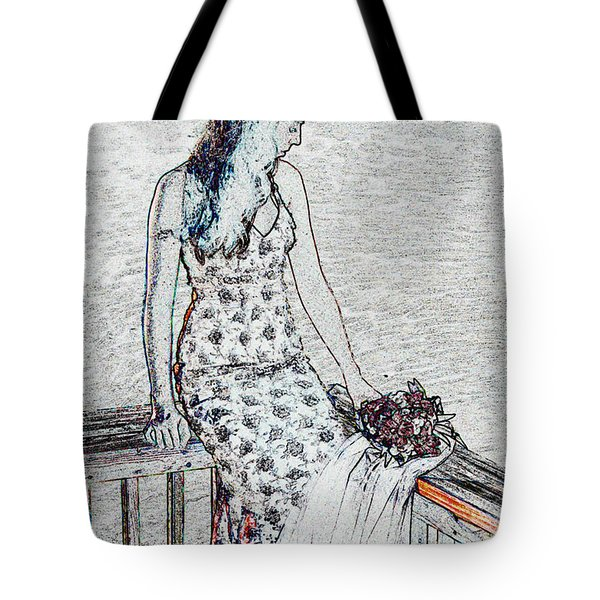 Thoughtful Tote Bag by Leticia Latocki