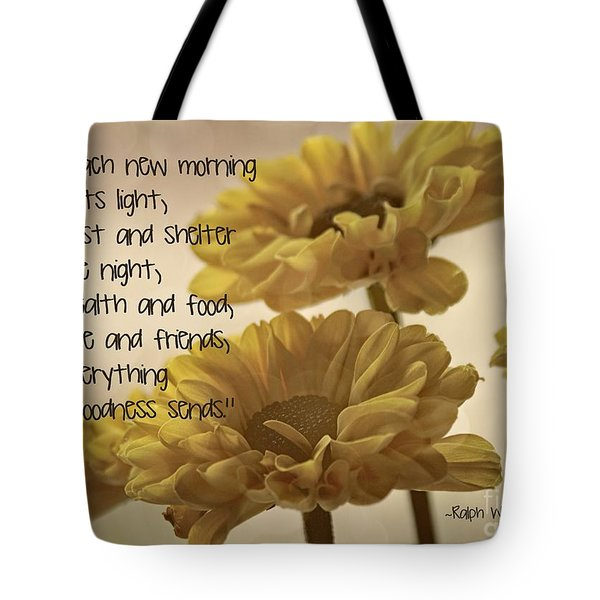 Thoughts Of Gratitude Tote Bag by Peggy Hughes