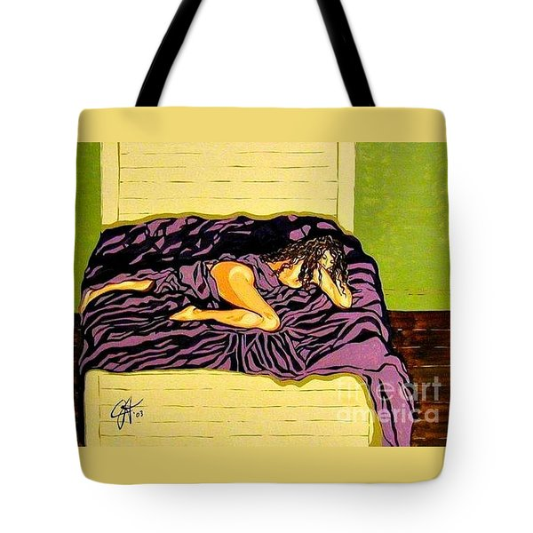 Tote Bag featuring the painting Thoughts Of You by Jackie Carpenter