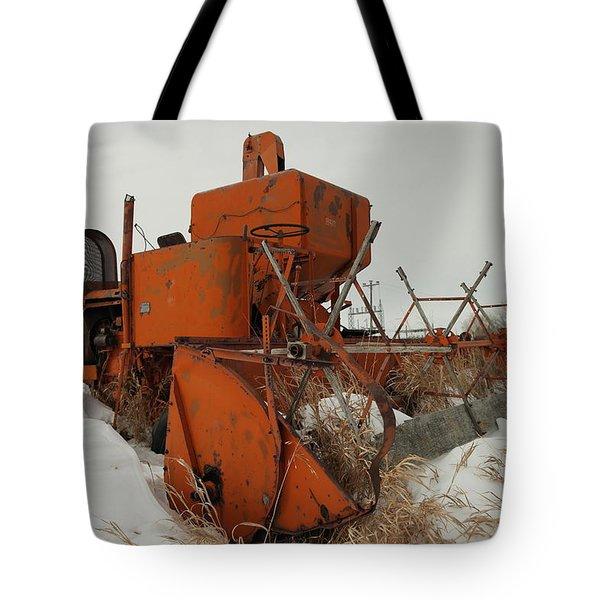 Thrashing The Snow Tote Bag by Jeff Swan