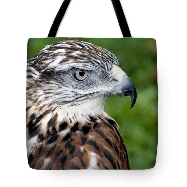 The Threat Of A Predator Hawk Tote Bag