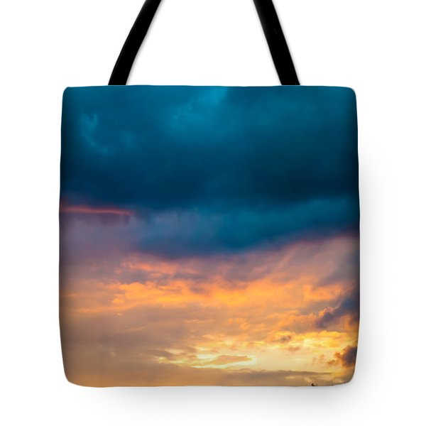 Threatening Skies At Sunset Tote Bag by Optical Playground By MP Ray