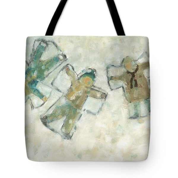 Three Angels Tote Bag by David Dossett