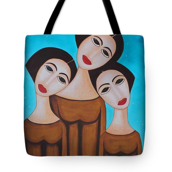 Three Angels Tote Bag