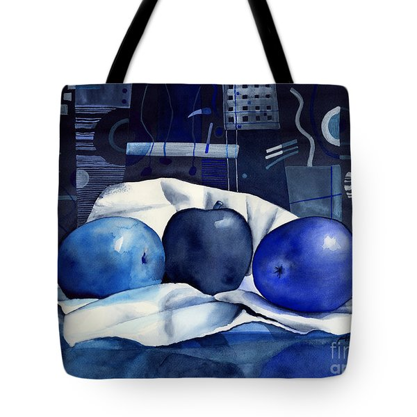 Three Apples Tote Bag