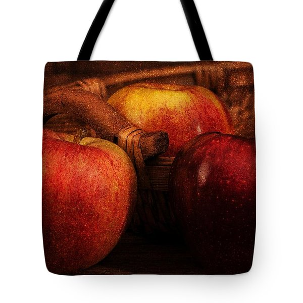 Three Apples Tote Bag