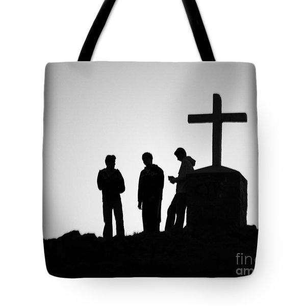 Three At The Cross Tote Bag