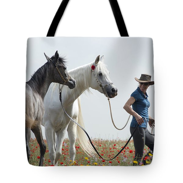Three At The Poppies' Field... 1 Tote Bag