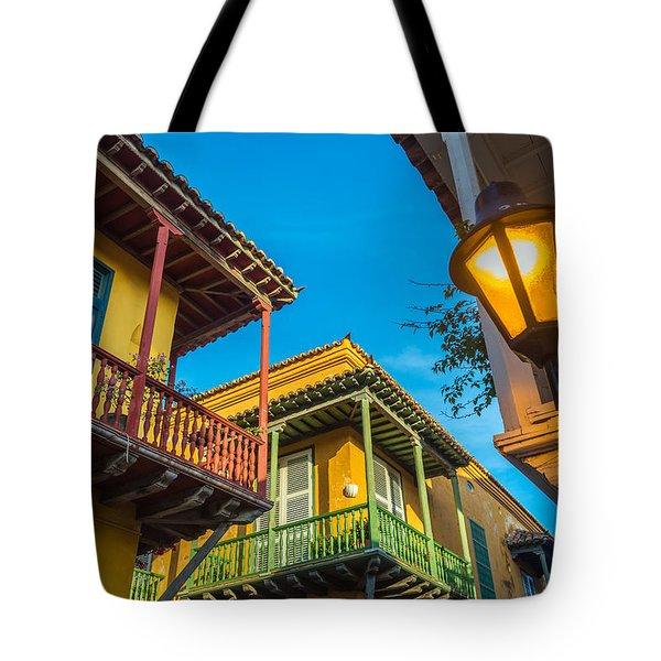 Three Balconies Tote Bag