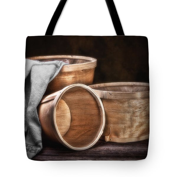 Three Basket Stil Life Tote Bag by Tom Mc Nemar