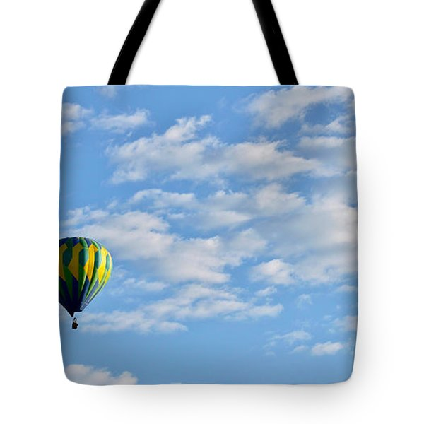 Three Beautiful Balloons In Cortez Tote Bag by Janice Rae Pariza