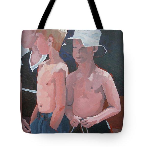 Three Boys Tote Bag