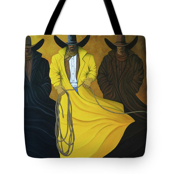 Three Brothers Tote Bag by Lance Headlee