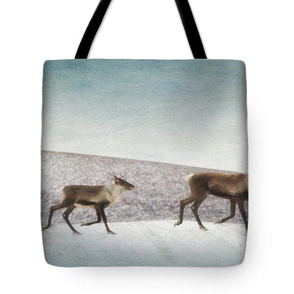 Three Caribous Tote Bag by Priska Wettstein