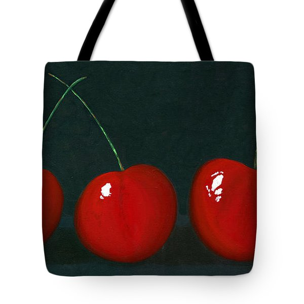 Three Cherries Tote Bag by Karyn Robinson