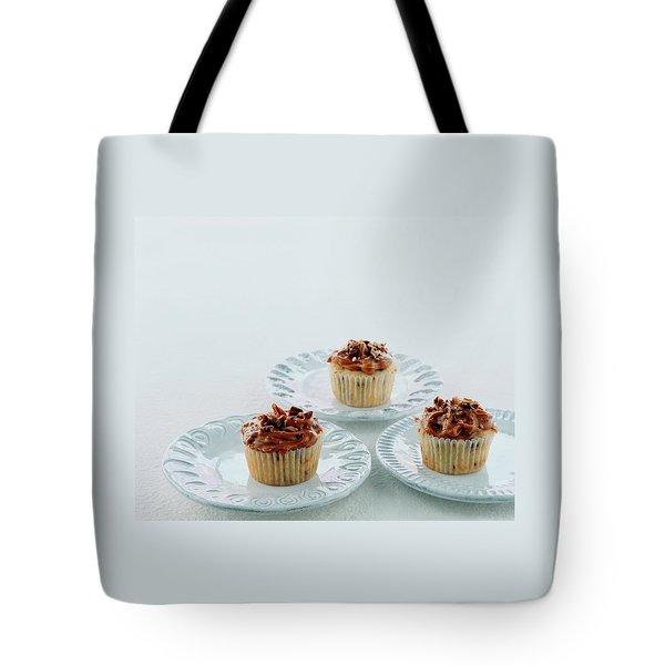 Three Cranberry Cupcakes Tote Bag