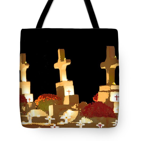 Tote Bag featuring the photograph Louisiana Artistic Cemetery by Luana K Perez