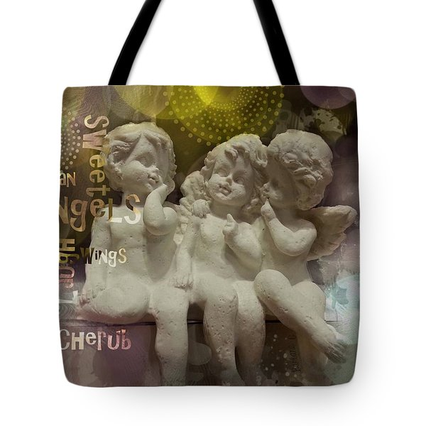 Three Cute Angels Tote Bag