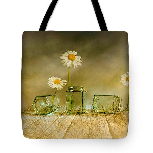 Three Daisies Tote Bag by Veikko Suikkanen
