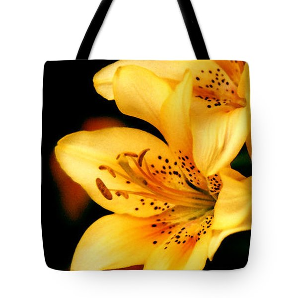 Three Day Lilies Taos Garden Tote Bag