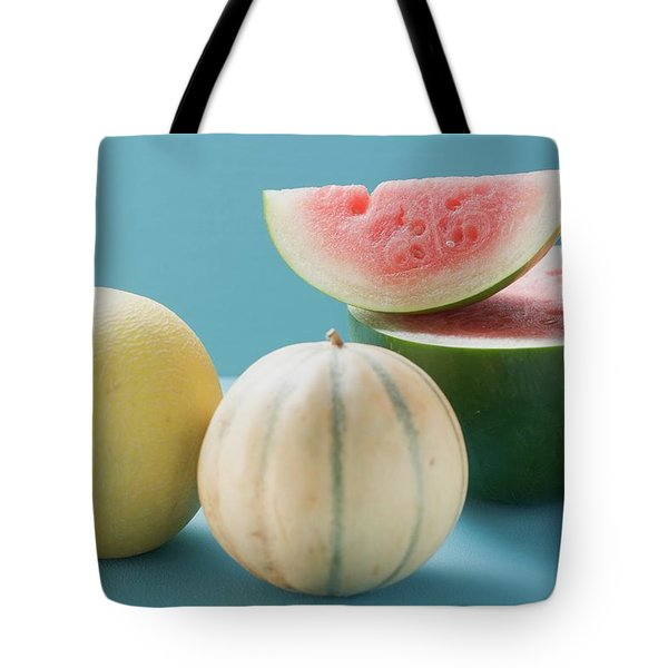 Three Different Melons Tote Bag