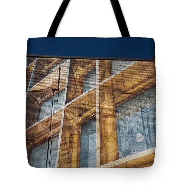 Three Dimensional Optical Illusions - Trompe L'oeil On A Brick Wall Tote Bag
