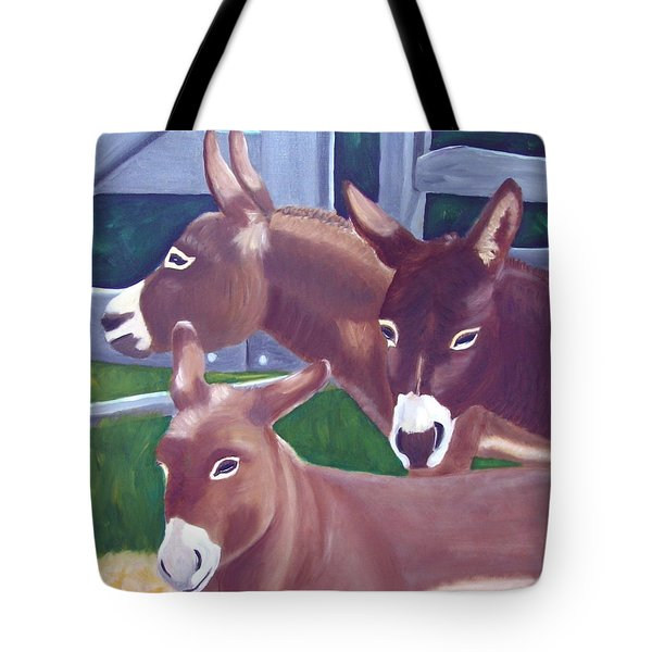 Three Donkeys Tote Bag