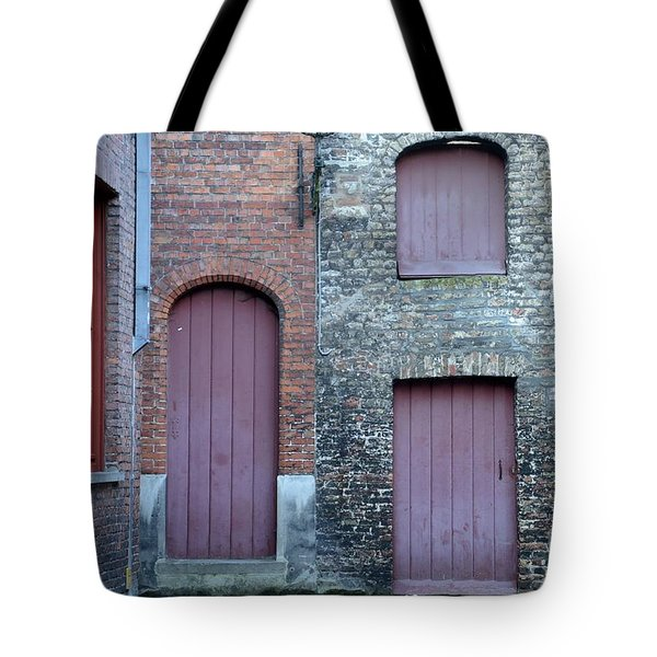 Three Doors And Two Windows Bruges, Belgium Tote Bag