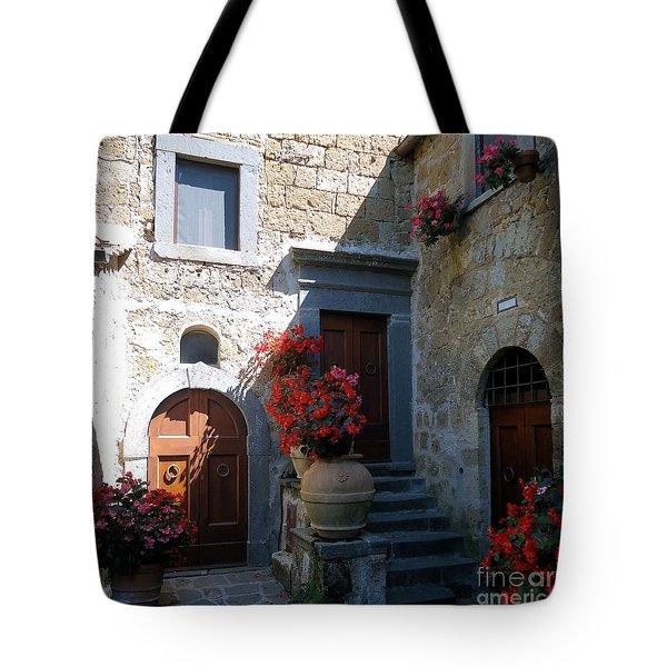 Three Doors In Bagnoregio Tote Bag