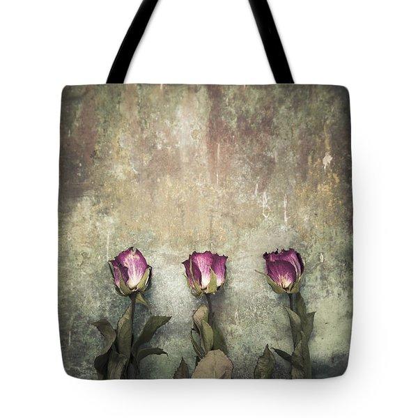 Three Dried Roses Tote Bag