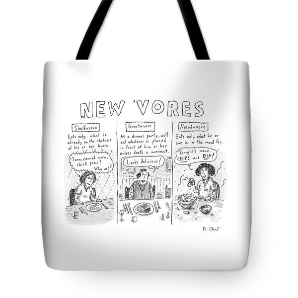 Three Eaters In Three Panels: The Shelfavore Tote Bag