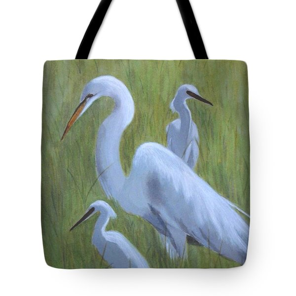 Three Egrets  Tote Bag