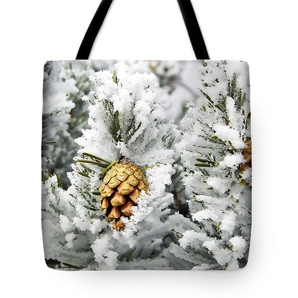 Three Frosty Cones Tote Bag by Marilyn Hunt