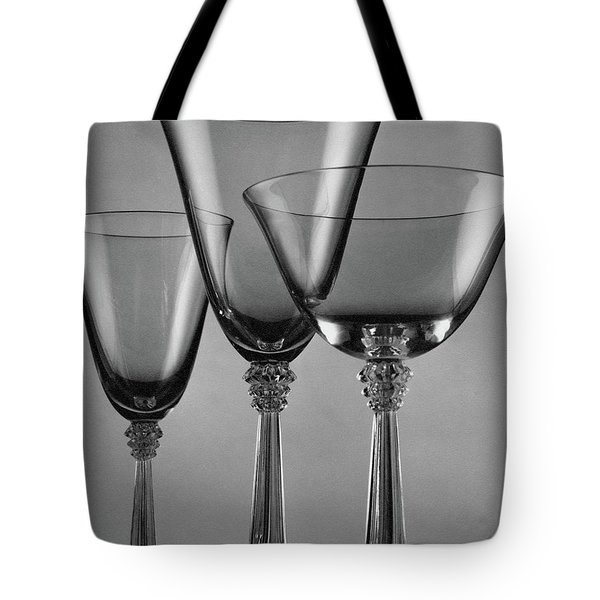 Three Glasses By Fostoria Tote Bag