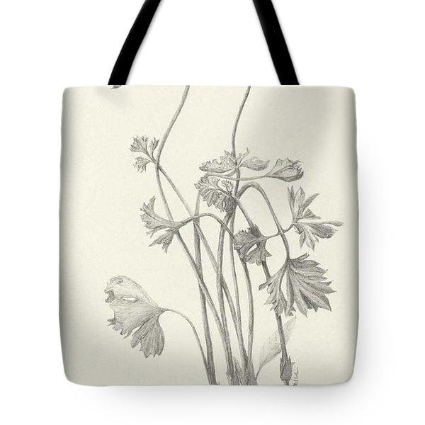 Three Herbs - Parsley Tote Bag