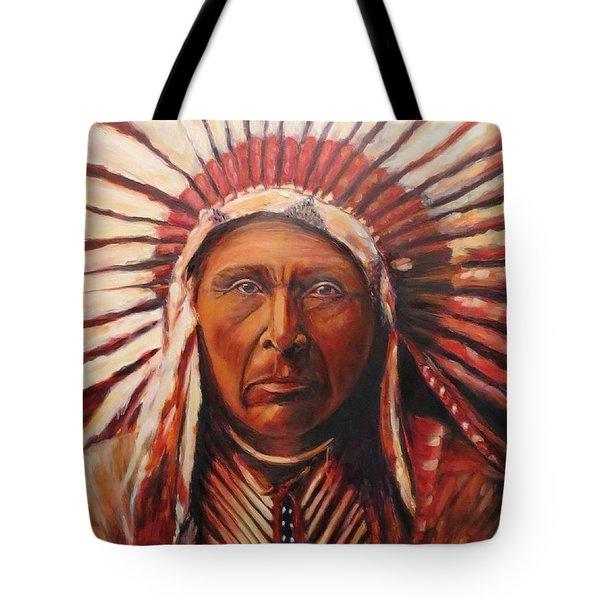 Three Horses, Native American  Tote Bag