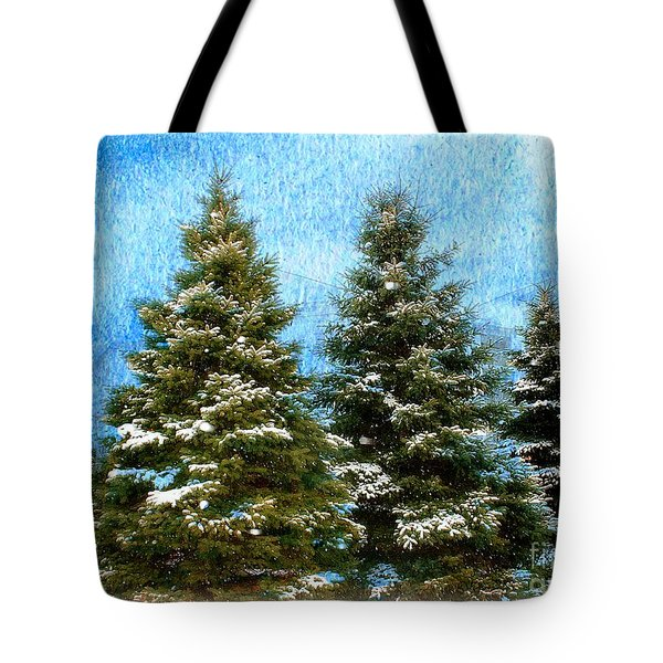 Tote Bag featuring the photograph Three In A Row by Judy Palkimas