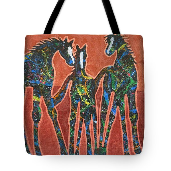 Three In The Family Tote Bag by Lance Headlee