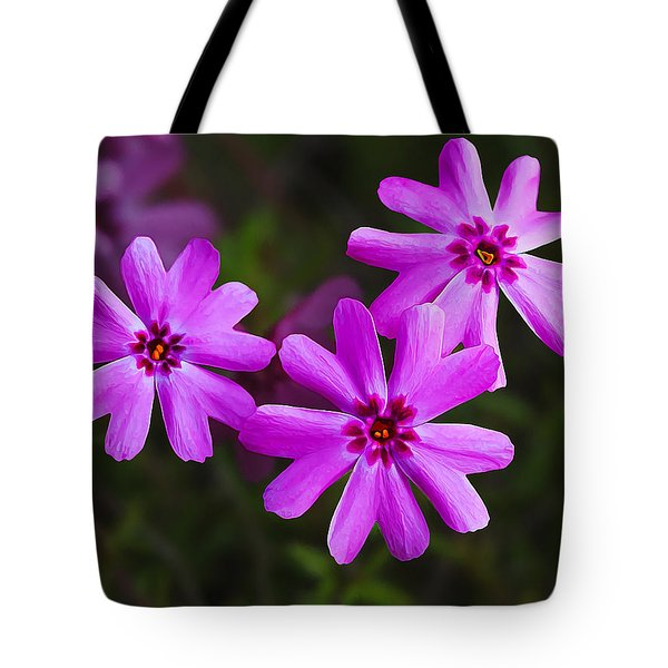 Three In The Pink Tote Bag