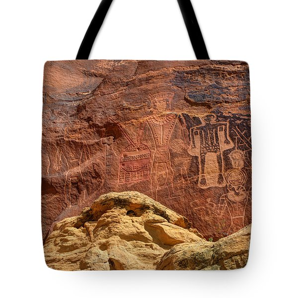 Three Kings Petroglyph - Mcconkie Ranch - Utah Tote Bag