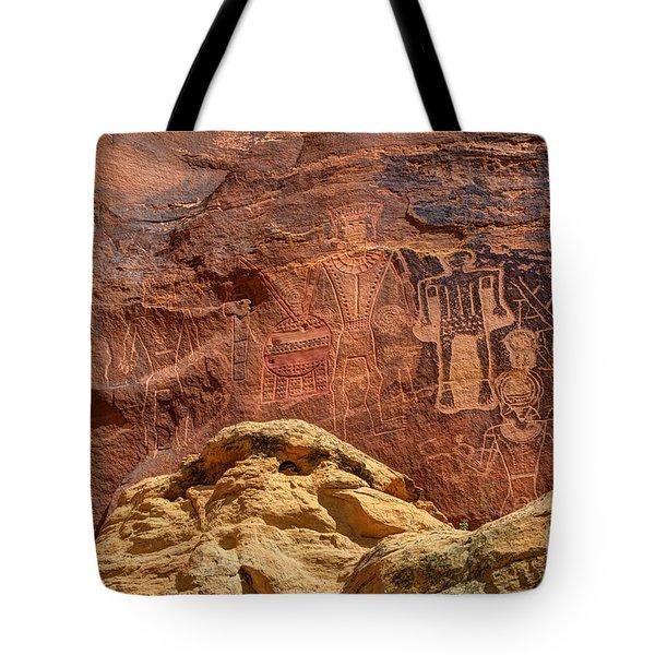 Three Kings Petroglyph - Mcconkie Ranch - Utah Tote Bag