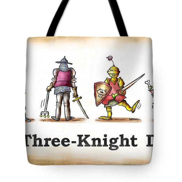 Three Knight Dog Tote Bag