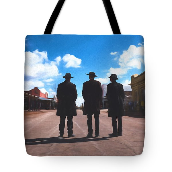 Three Lawmen Tote Bag