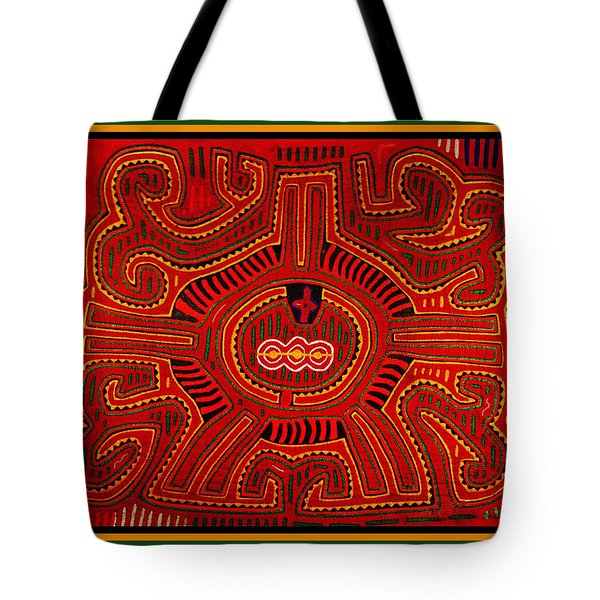 Tote Bag featuring the digital art Three Layers Of The World by Vagabond Folk Art - Virginia Vivier