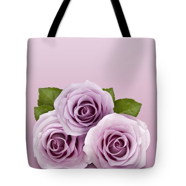 Three Lilac Roses Tote Bag